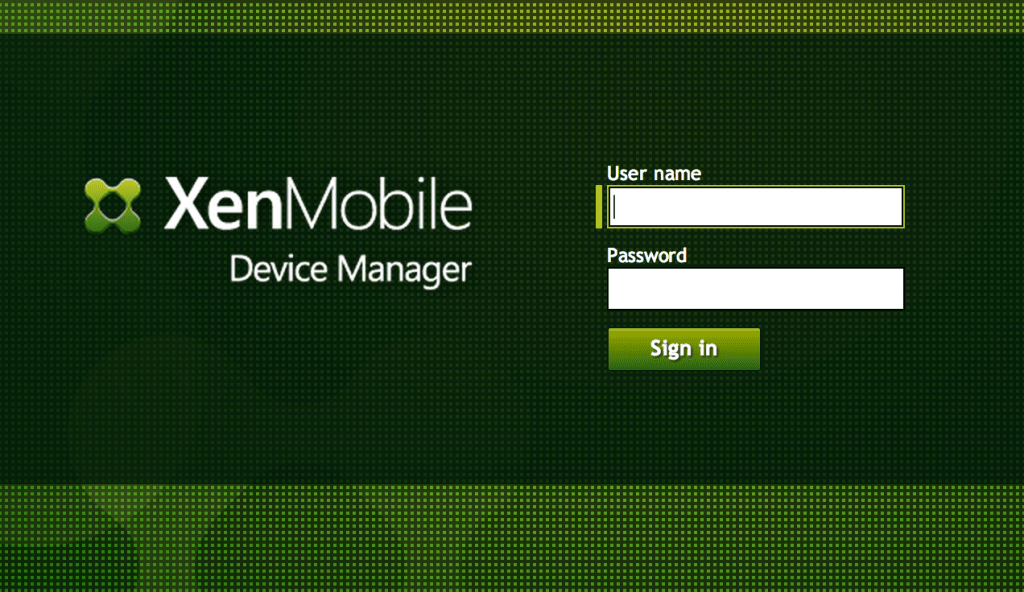 xenmobile device manager