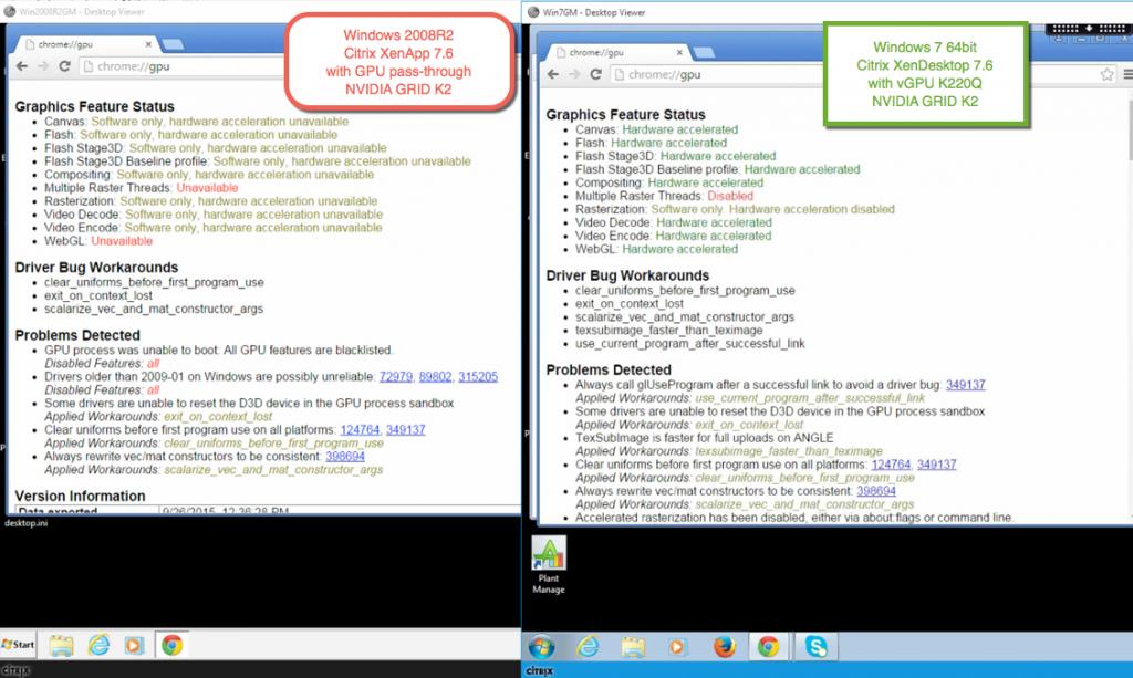 browser - chrome xd vs xa gpu - 2008R2 vs Win7